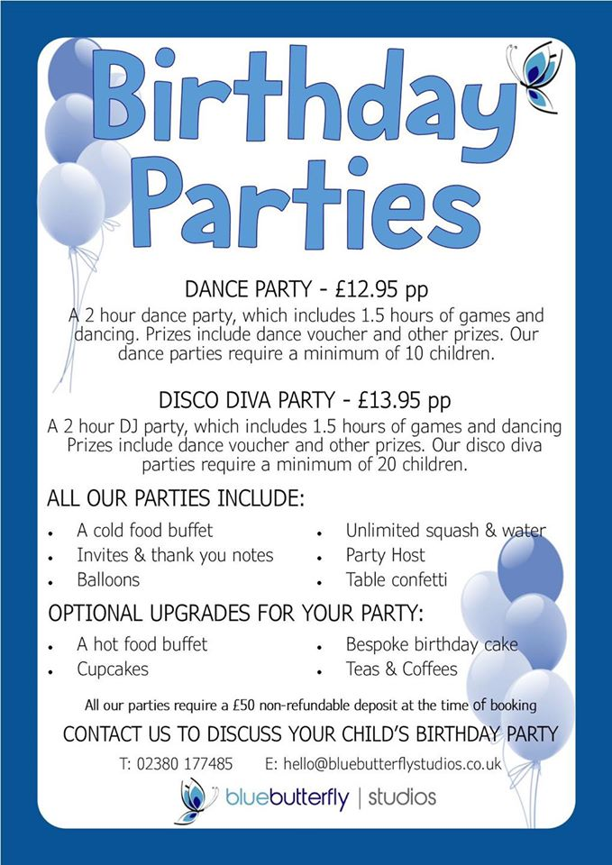 Birthday Parties Poster