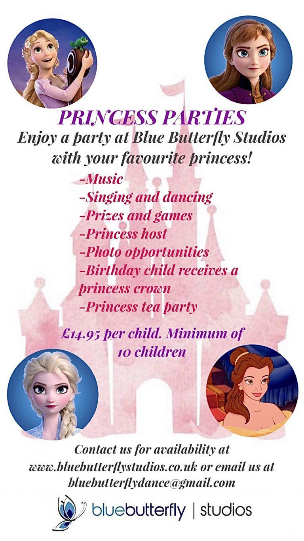 Princess Parties Poster