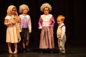 Kids dressed as old people